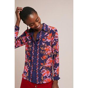 NWT Anthropologie Maeve Connie Blouse in 100% Silk